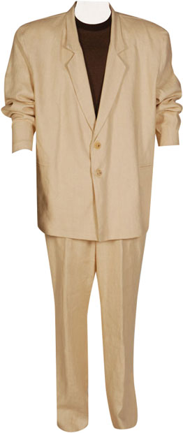 Tan Miami Vice 80s Suit Costume