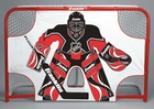"Hockey Shooting Goalie Target 54""x44"""