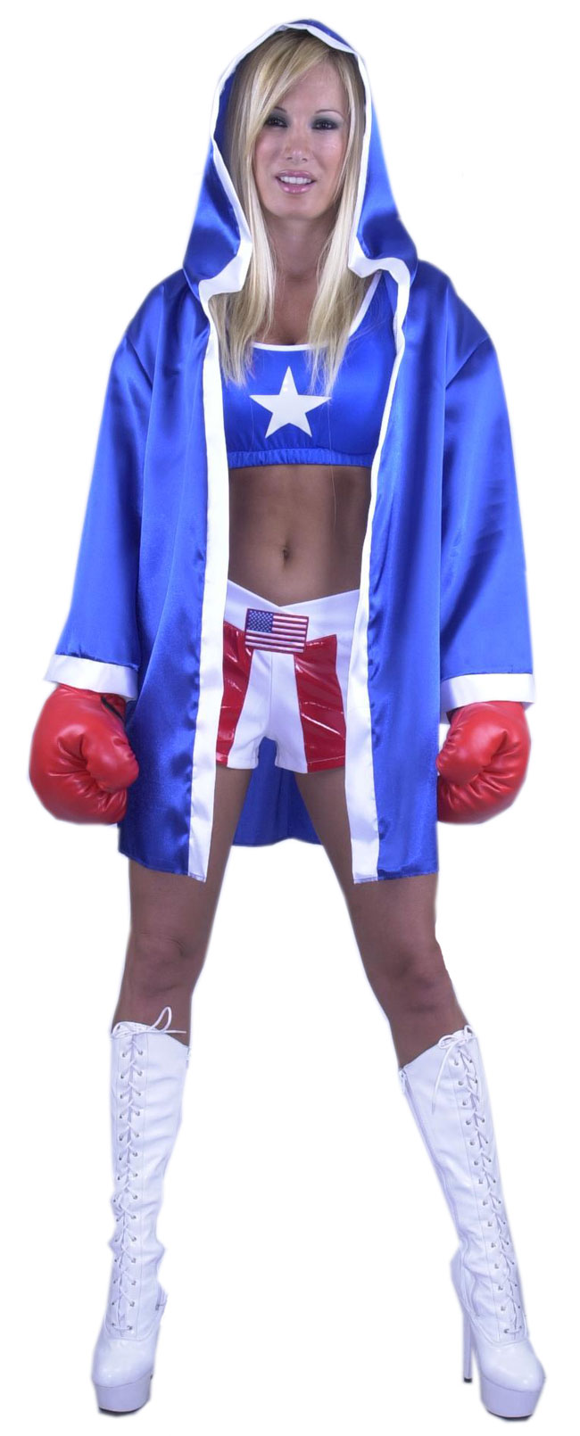 Women's Sexy Boxer Robe Costume