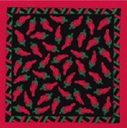 Black Chili Pepper Bandanas