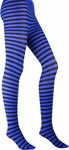 Black / Blue Striped Tights