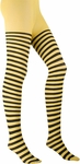 Black / Yellow Striped Tights