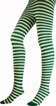 White / Green Striped Tights
