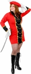 Plus Size Sexy Captain Treasure Costume