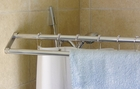 Double Shower Curtain Rod