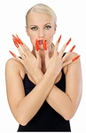 Long Red Fingernail Kit