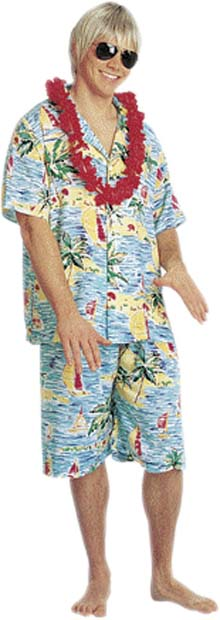 Men's Hawaiian Tourist Costume