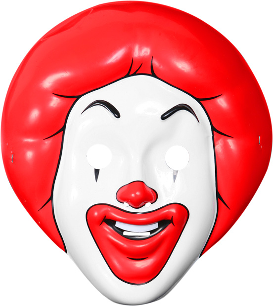 Child's Ronald McDonald PVC Mask