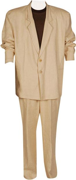 Tan Miami Vice 80s Suit Plus Size Costume