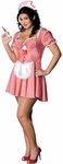 Plus Size Sexy Candy Striper Nurse Costume