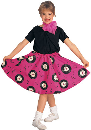 Child's Jukebox Girl Costume