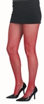 Adult Red Fishnet Tights