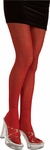 Adult Red Glitter Costume Tights