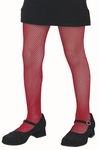 Child's Red Fishnet Tights