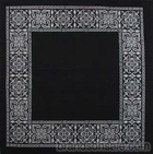 Open Center Black Paisley Bandanas