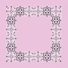 Open Center Pink Paisley Bandanas