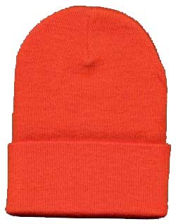Beanie Ski Cap Hat in Orange