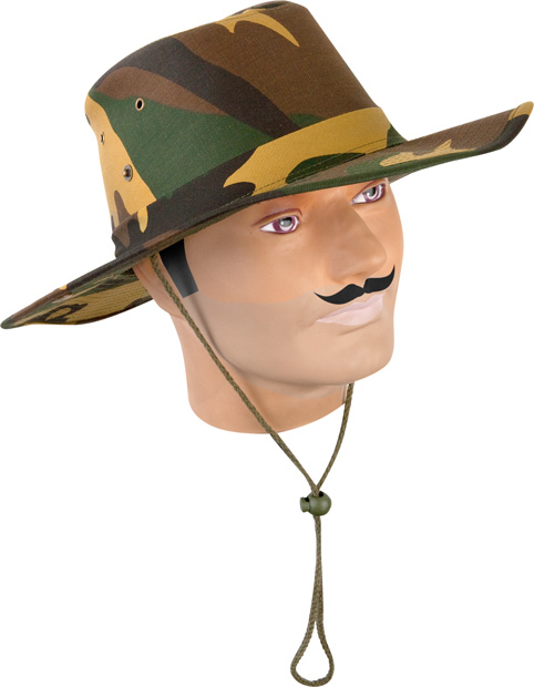 Adult Cotton Camo Aussie Bush Hat