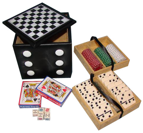 "6�"" Deluxe Dice Cube Game Set"