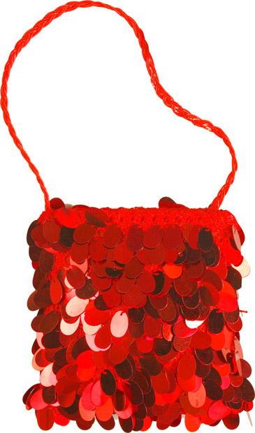 Woman's Red Flapper Purse