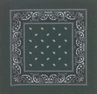 Double Sided Dark Green Paisley Bandanas