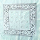 Mint Green Paisley Bandanas Wholesale