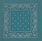 Teal Green Paisley Bandanas Wholesale