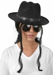 90s Pop Star Wig and Hat Costume Set