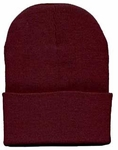 Beanie Ski Cap Hat in Burgundy