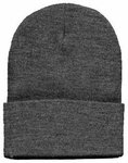 Beanie Ski Cap Hat in Charcoal Gray