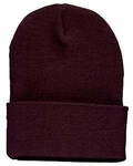 Beanie Ski Cap Hat in Dark Brown