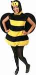 Plush Adult Bumble Bee Costume