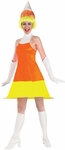 Adult Candy Corn Dress w/ Wig Costume