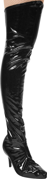 Women's Vinyl Thigh High Boot Covers