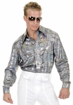 Adult Silver Disco Shirt