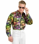 Men's Hologram Disco Shirt