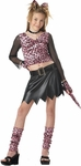 Preteen Pink Leopard Dress Costume