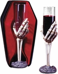 Skeleton Hand Drink Glass