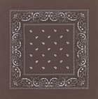 Brown Paisley Bandanas Wholesale