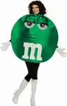 Adult Deluxe M&M Green Character Costume
