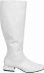 Women's Long White Go Go Boots