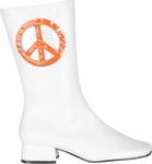 Women's Peace Sign Go Go Boots