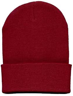 Beanie Ski Cap Hat in Red
