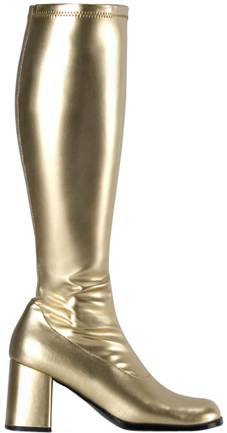 Adult Gold Go Go Costume Boots