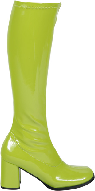 Lime Disco Go Go Boots