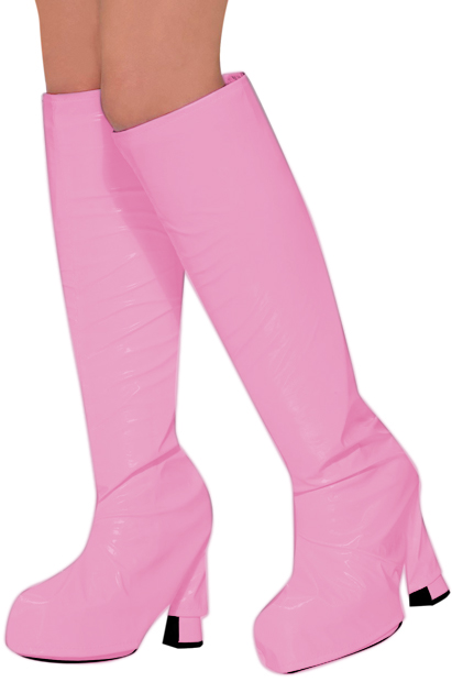 Women's 60s Pink Go Go Boot Tops