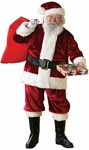 Adult Deluxe Crimsom Plush Santa Suit
