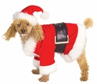 Velour Santa Dog Costume
