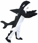Adult Black Fish Killer Whale Costume