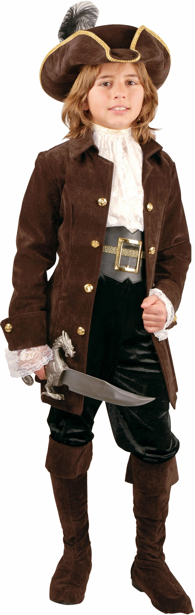 Child's Quality Suede Pirate Costume